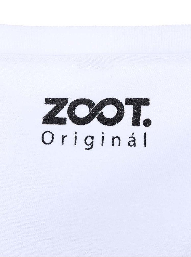 Tricou barbatesc ZOOT Original WTF alb