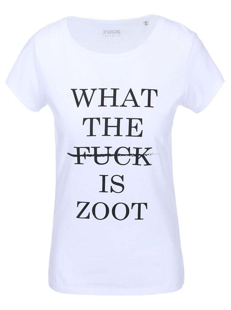 Biele dámske tričko ZOOT Originál What The Fuck