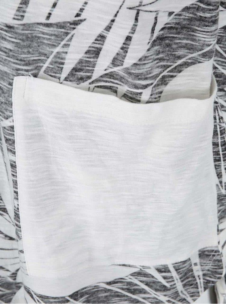 Tricou alb cu negru cu model Serenity Now Roxy