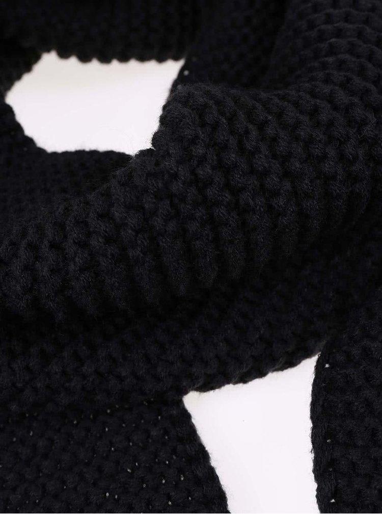 Černá šála Jack & Jones Grees