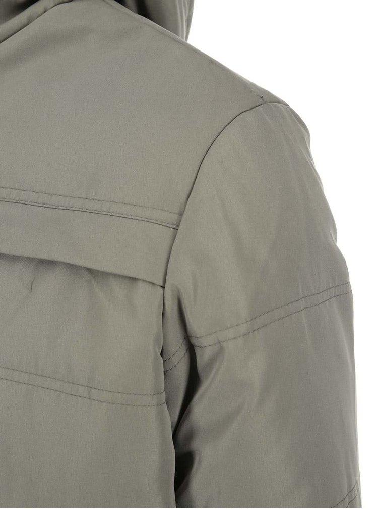 Jachetă cu glugă kaki Jack & Jones Nordic