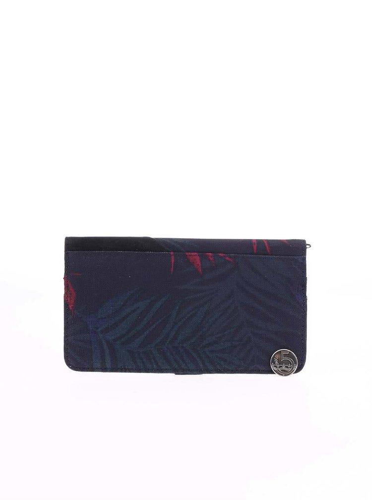 Tmavomodrá peňaženka s potlačou listov Roxy Beach Grounded
