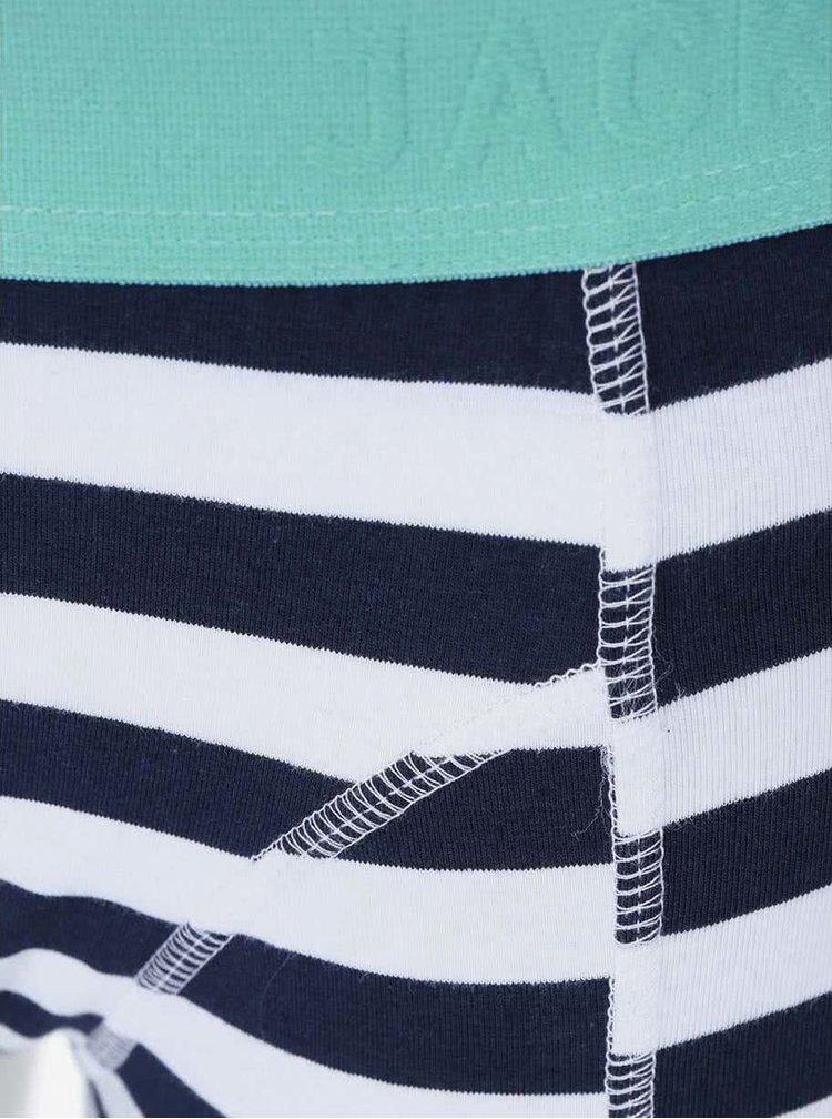 Bílo-modré pruhované boxerky Jack & Jones Harkel
