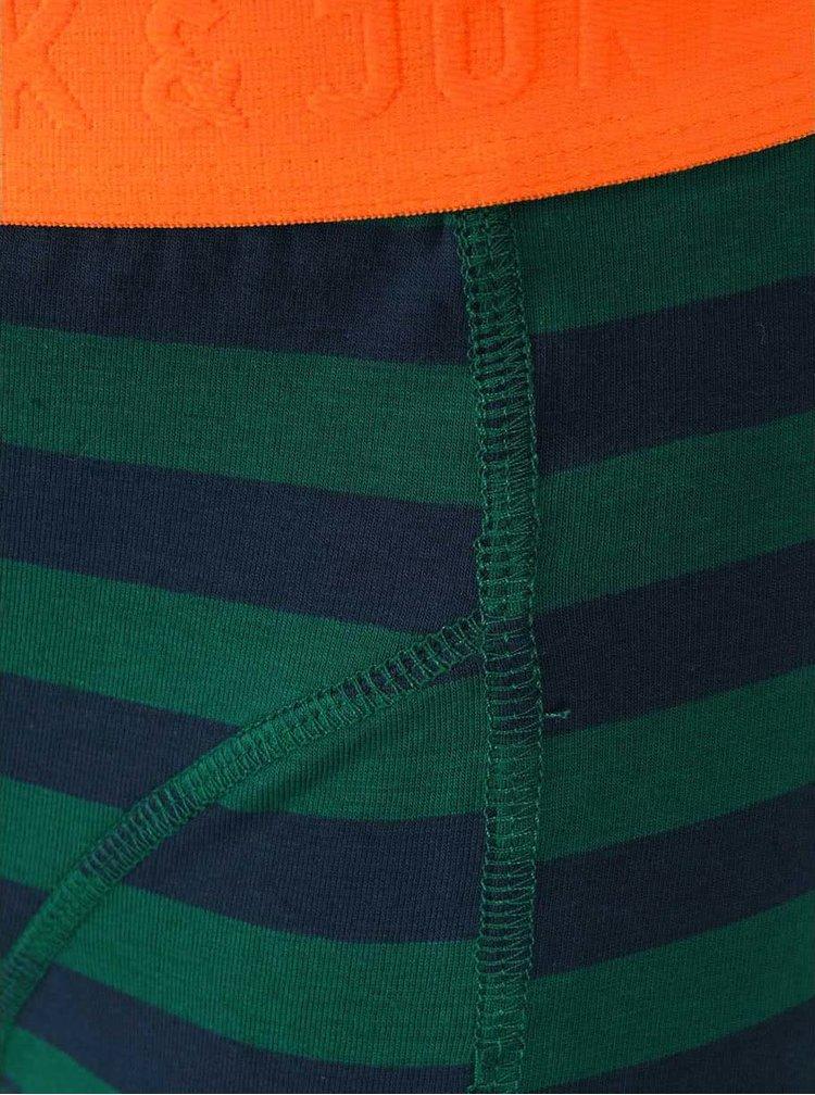 Boxeri Harkel cu dungi verzi și albastre de la Jack & Jones