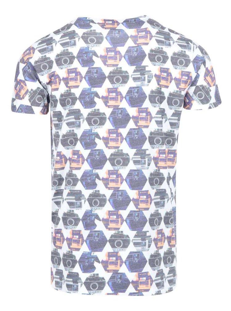 Bílé triko s barevným vzorem Lindbergh