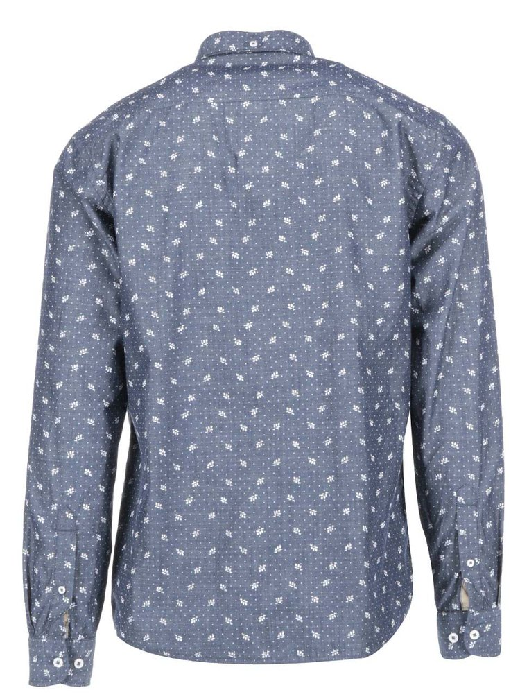 Šedomodrá košile se vzorem Lindbergh