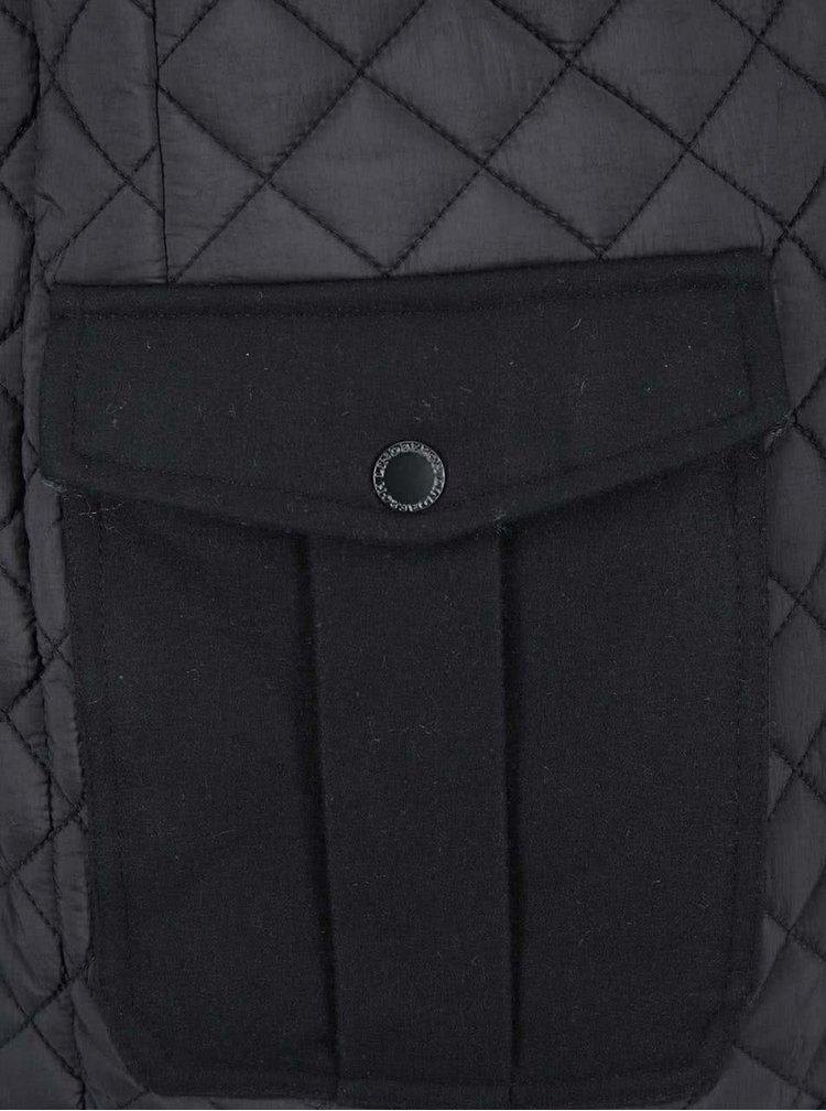 Čierna dlhšia bunda Lindbergh