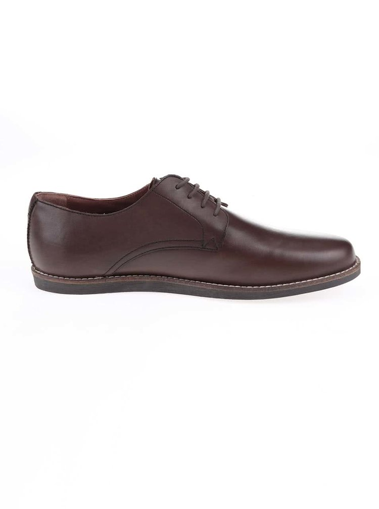 Hnědé kožené boty Frank Wright Trinder