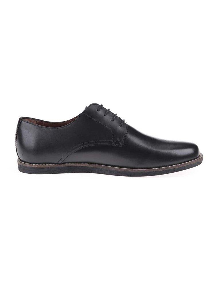 Pantofi Trinder, de la Frank Wright, din piele - negri