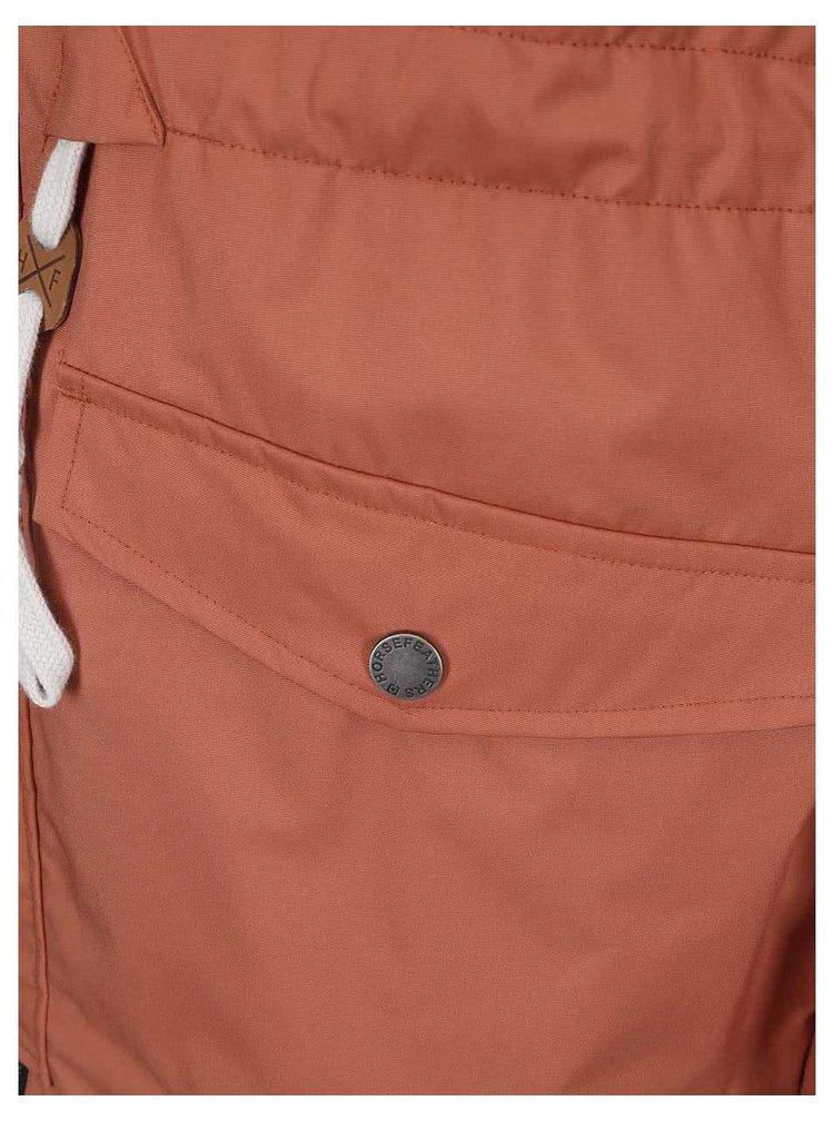 Oranžová pánska zimná bunda Horsefeathers Steam