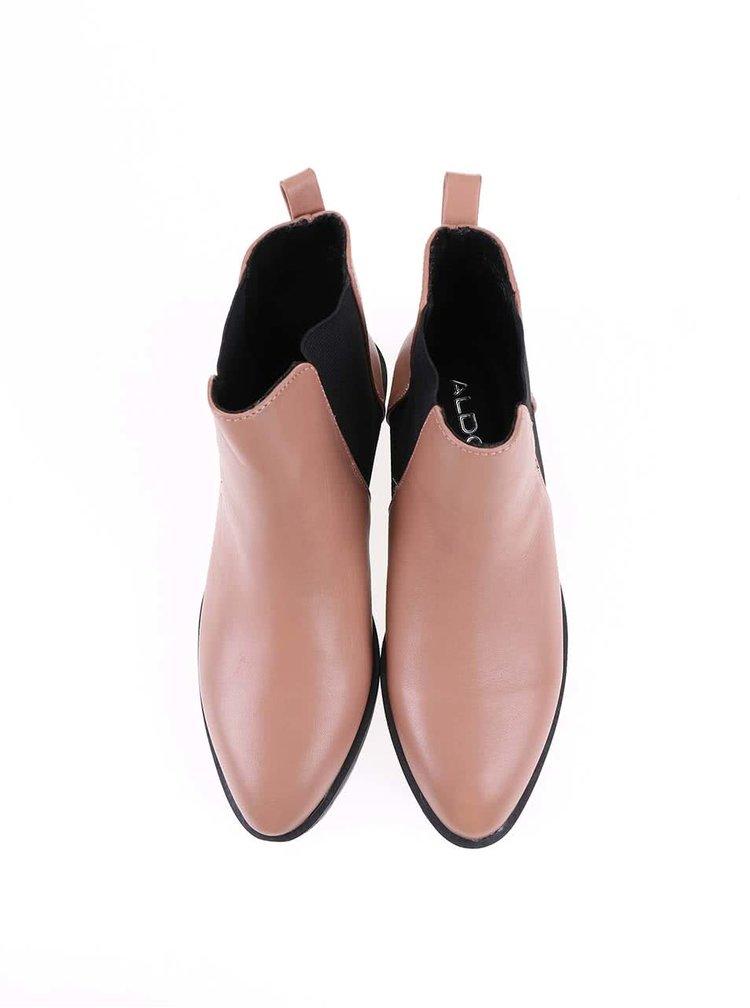 Tělové dámské kožené kotníkové boty ALDO Evora