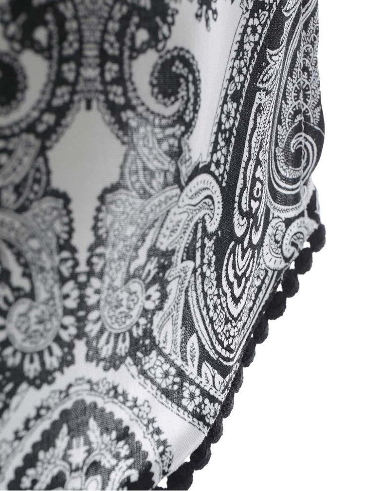 Krémovo-černé volnější šaty se vzorem Dorothy Perkins