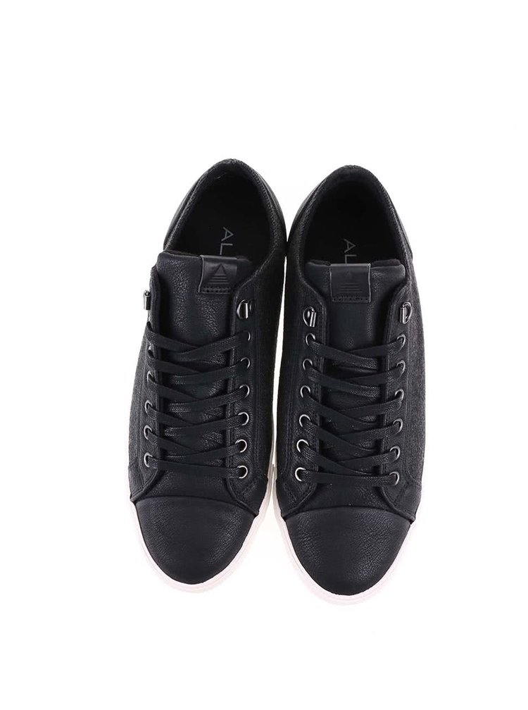 Sivo-čierne pánske kožené tenisky ALDO Minnitaki