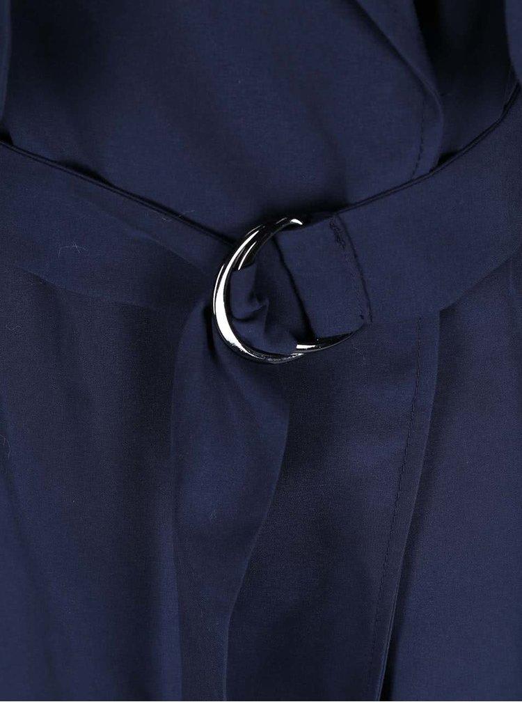 Tmavě modrý dlouhý trenčkot Dorothy Perkins