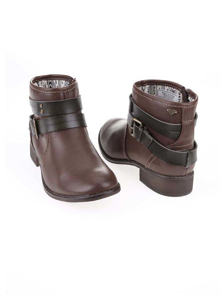 Hnedé členkové topánky s prackou Roxy Jensen
