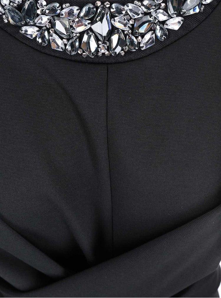 Černé šaty s ozdobným výstřihem Dorothy Perkins