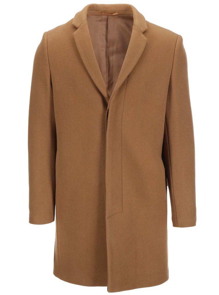 Béžový vlněný kabát Selected Brook
