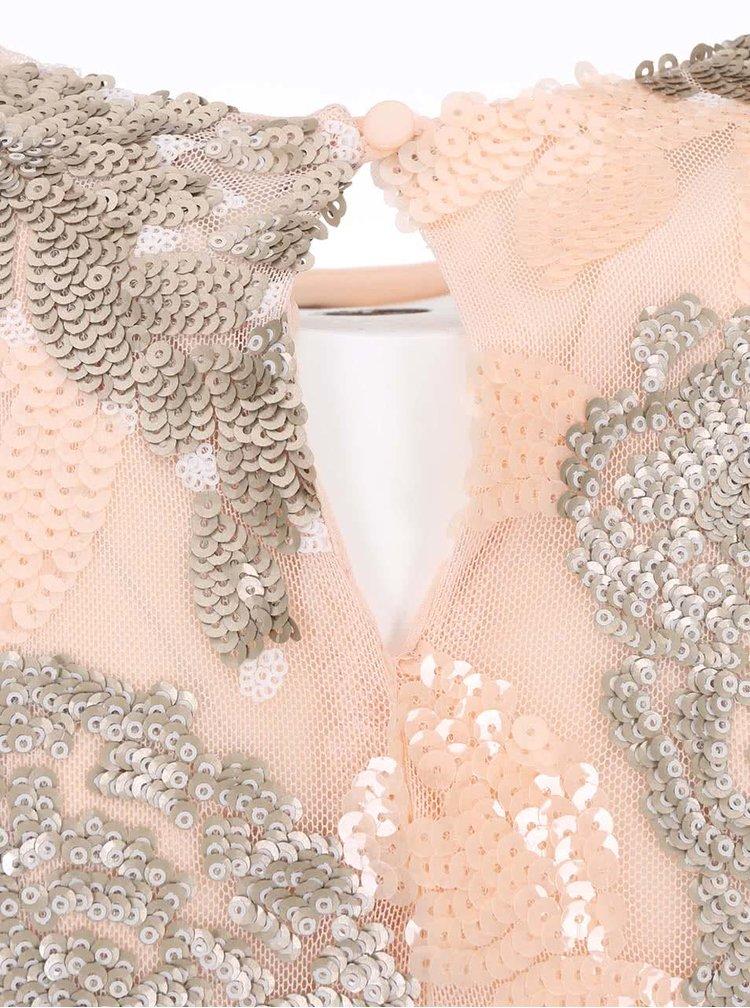 Rochie culoarea piersicii cu paiete Dorothy Perkins