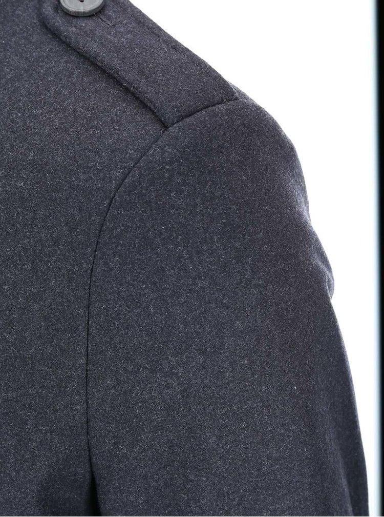 Tmavě šedý kabát Selected Hover