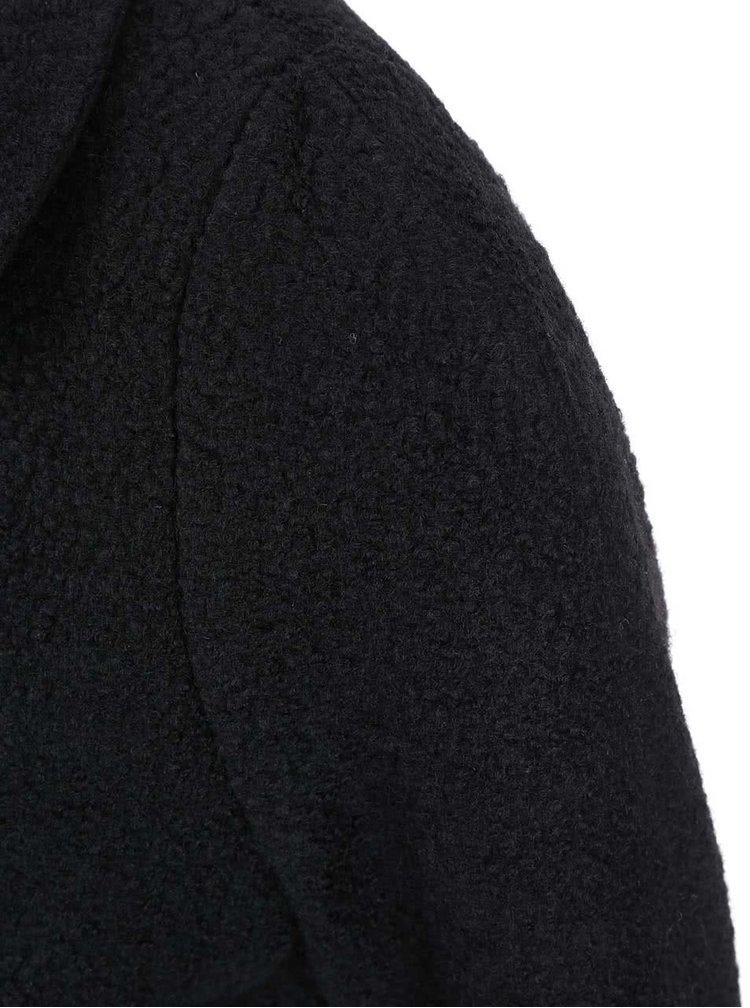Černý kabát s límečkem ONLY Sally
