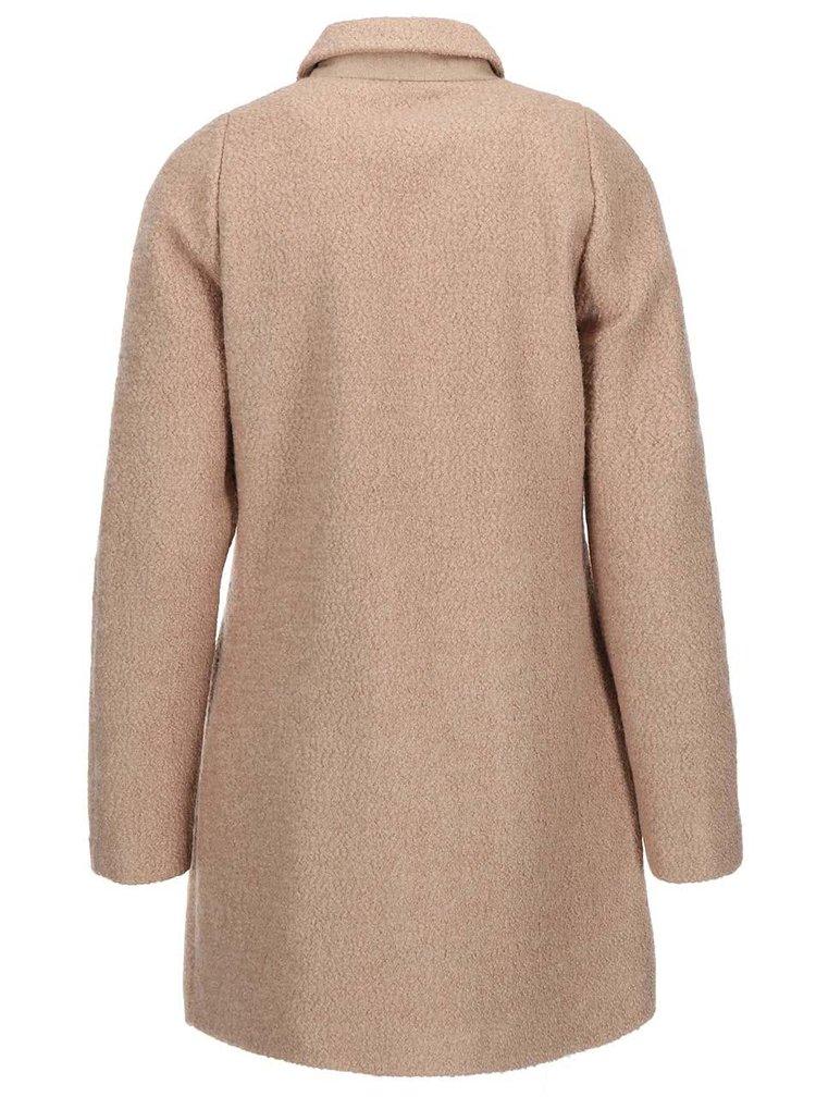 Béžový kabát s límečkem ONLY Sally