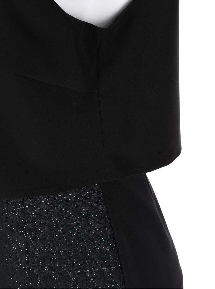Čierne šaty s prešívaním ONLY Bess