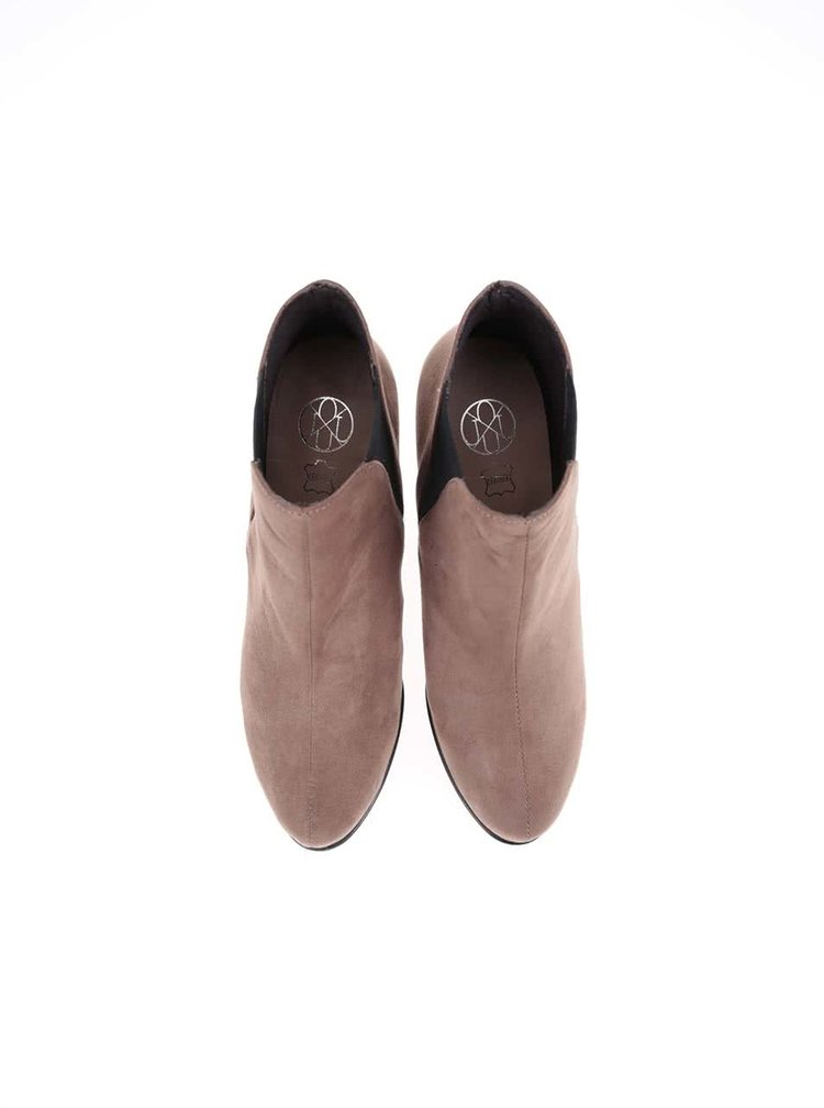 Svetlohnedé topánky na podpätku OJJU