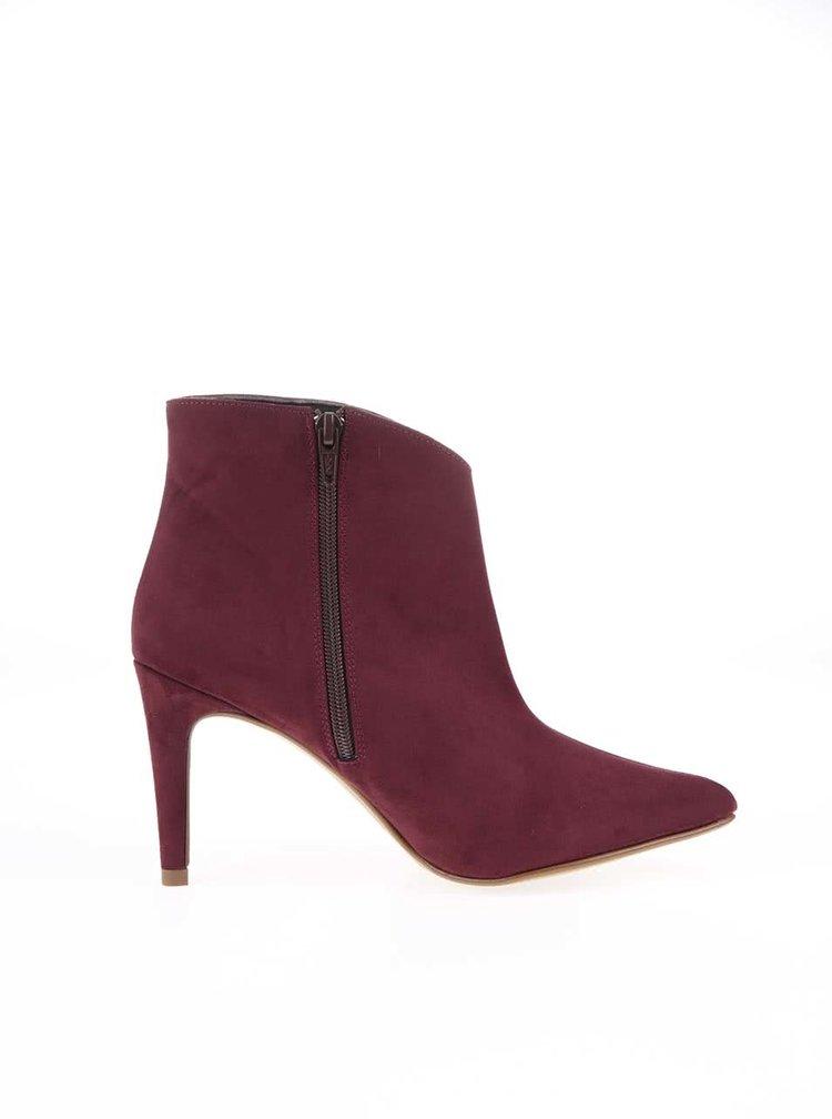 Vínové boty na podpatku OJJU