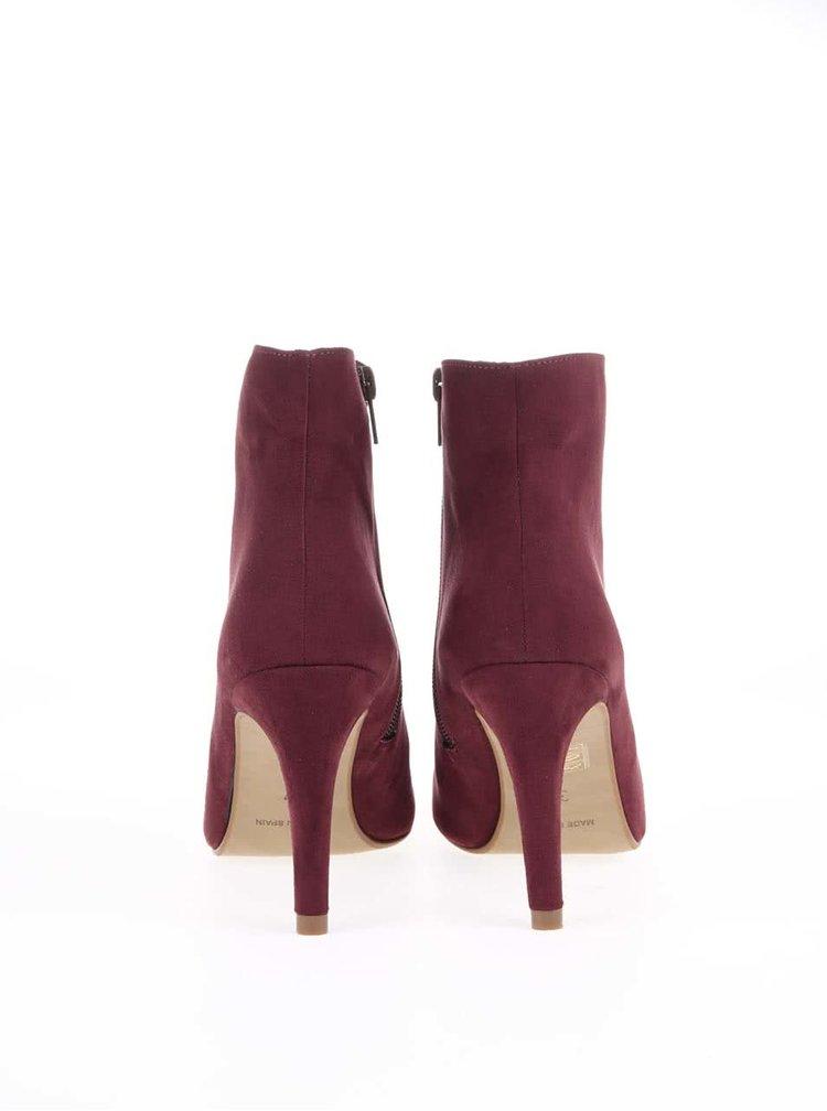 Vínové topánky na podpätku OJJU