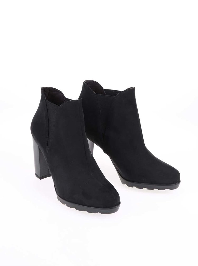Černé boty na podpatku OJJU