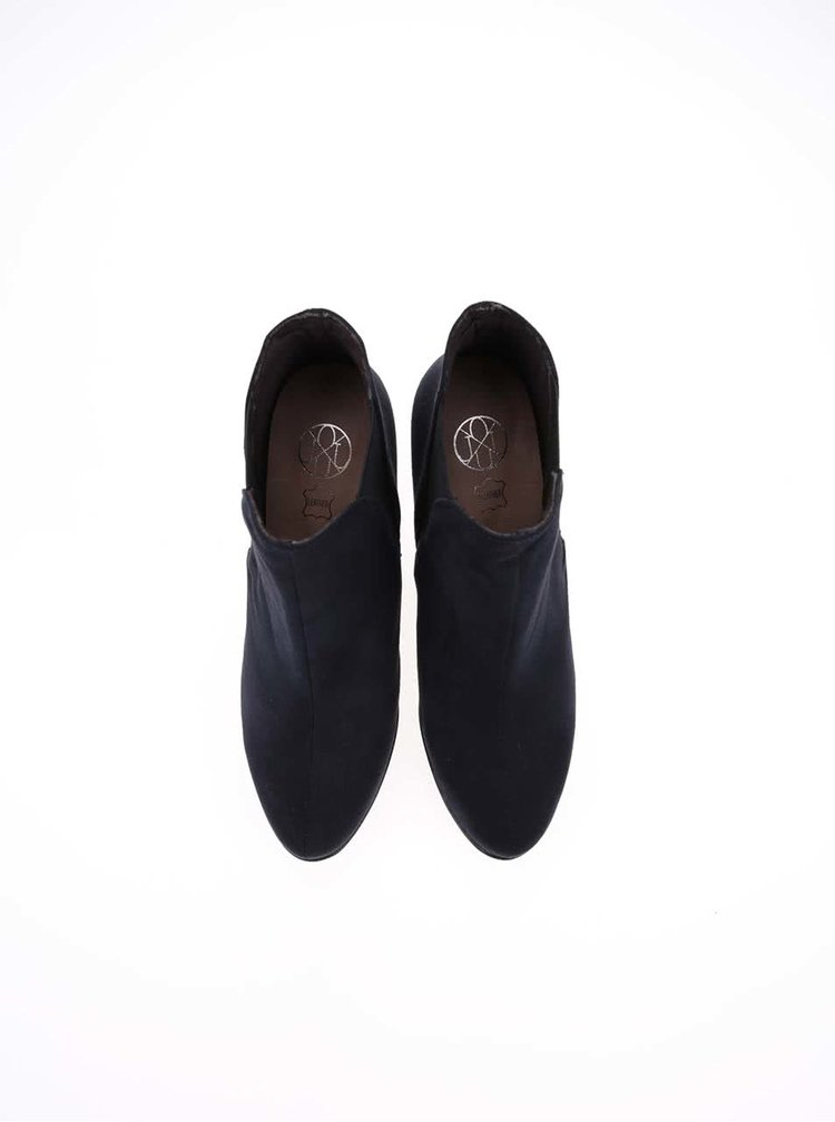 Tmavě modré boty na podpatku OJJU