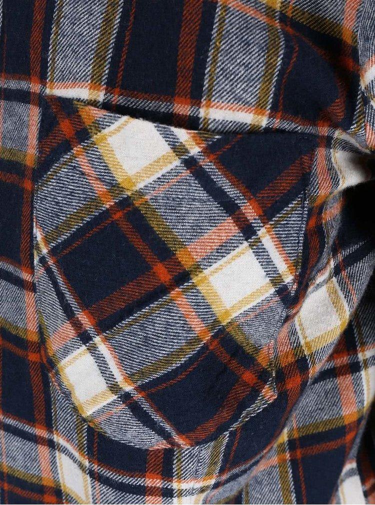 Modrá kockovaná košeľa ONLY Dixie