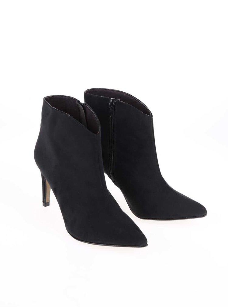 Čierne topánky na podpätku OJJU