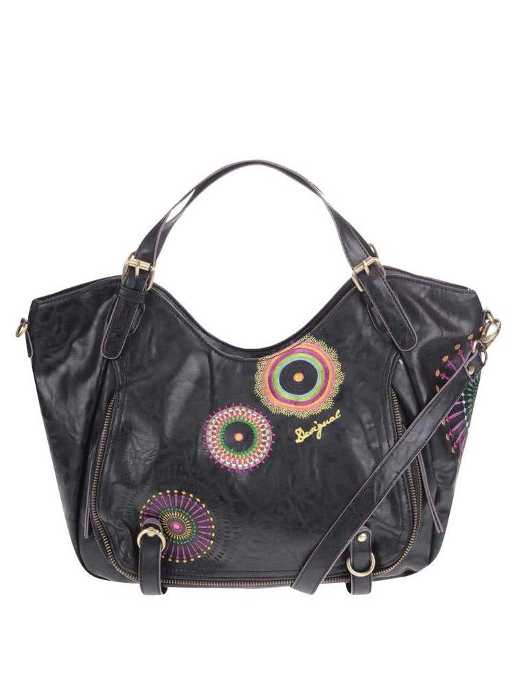 Černá kabelka s barevnými ornamenty Desigual Rotterdam Audrey