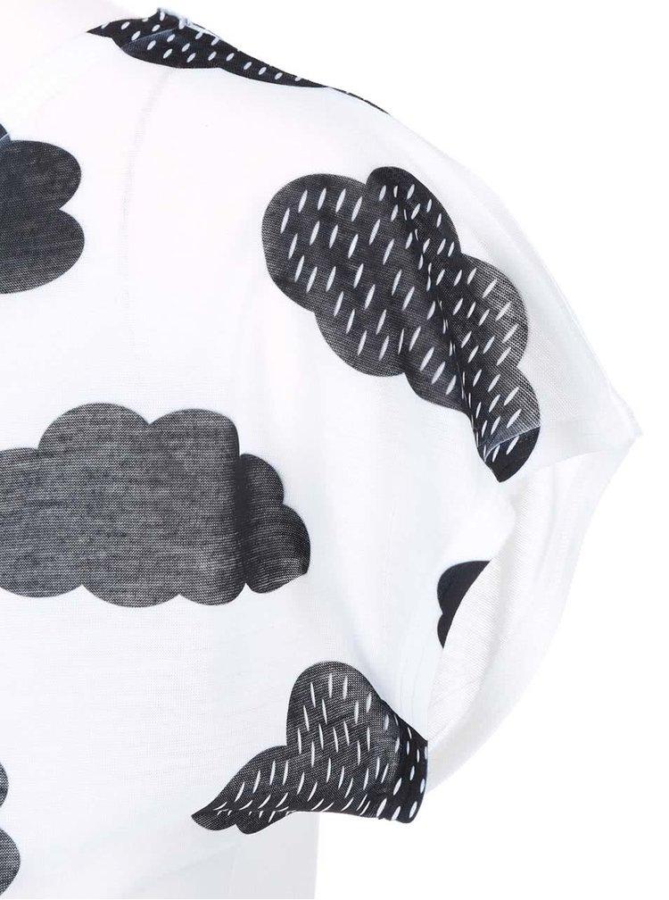 Černo-bílé dámské tričko ZOOT Originál Mráčky