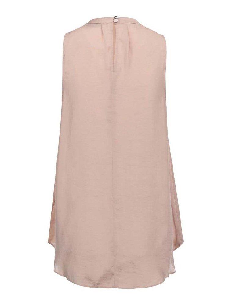 Bluză roz prăfuit cu decolteu decorat Dorothy Perkins