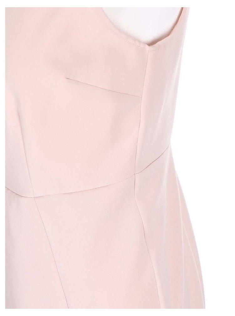 Pudrově růžové šaty s náhrdelníkovou aplikací Dorothy Perkins