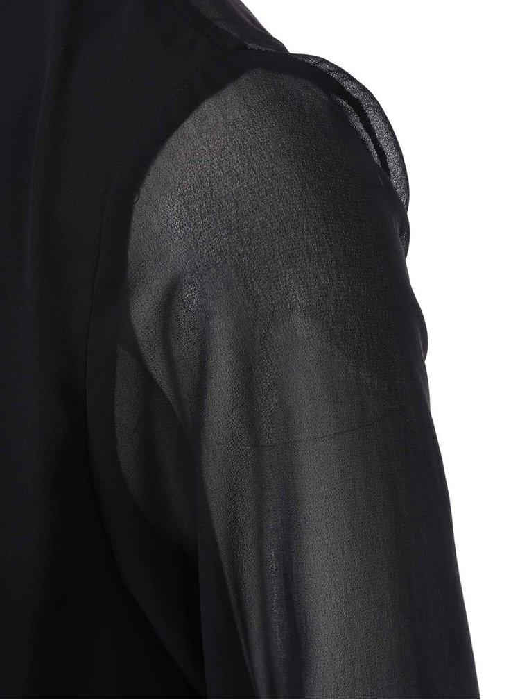 Černá halenka s průsvitnými zády VILA Gilio