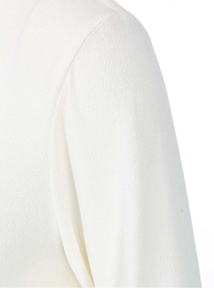 Krémová blúzka s dlhým rukávom VILA Arch