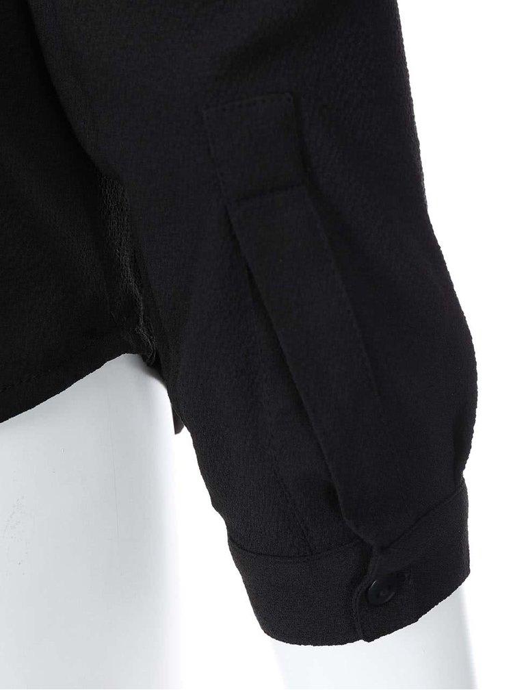 Bluză neagră cu mânecă lungă VILA Arch