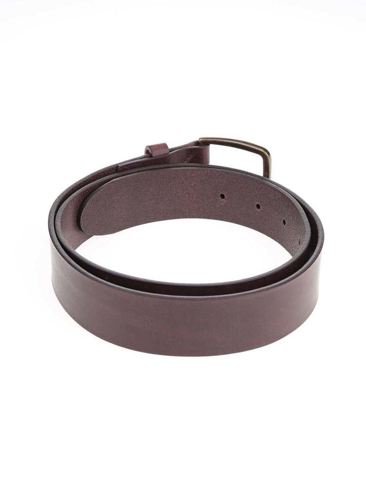 Tmavě hnědý hladký kožený pásek Jack & Jones Lassy