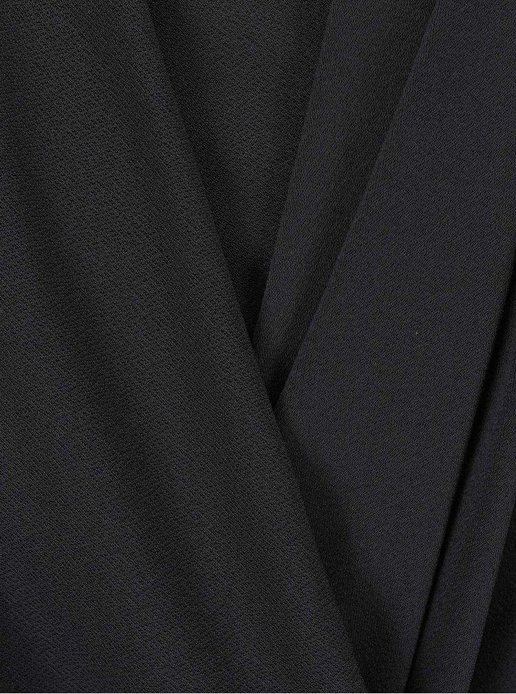 Tmavě šedé šaty s dlouhým rukávem VILA Summary