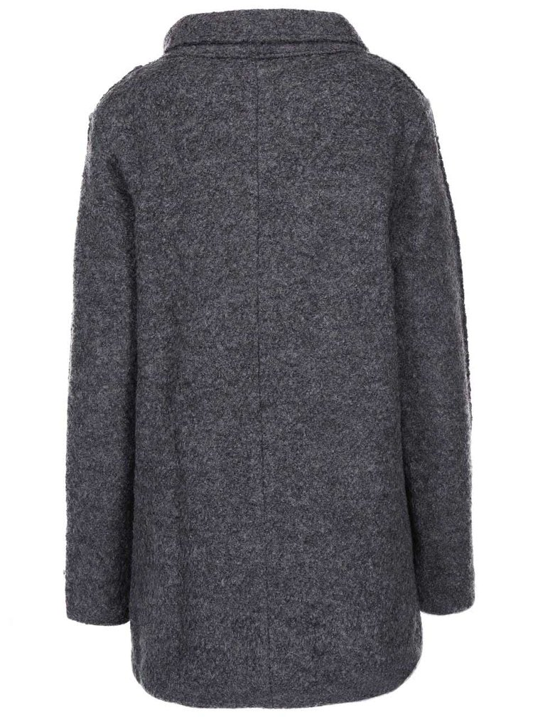 Tmavě šedý kabát ICHI Tinju