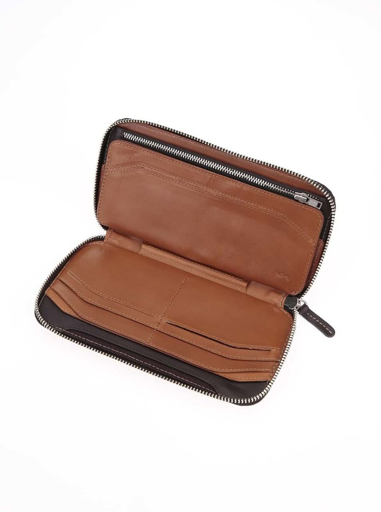 Portofel din piele 2 in 1 unisex Bellroy Carry Out maro