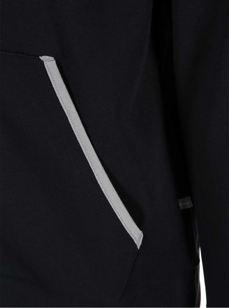 Černá mikina na zip Jack & Jones Tech Slider