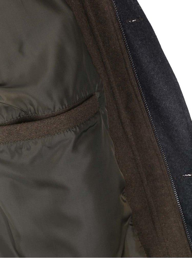 Kaki parka s kapucňou D-Struct Nuffield