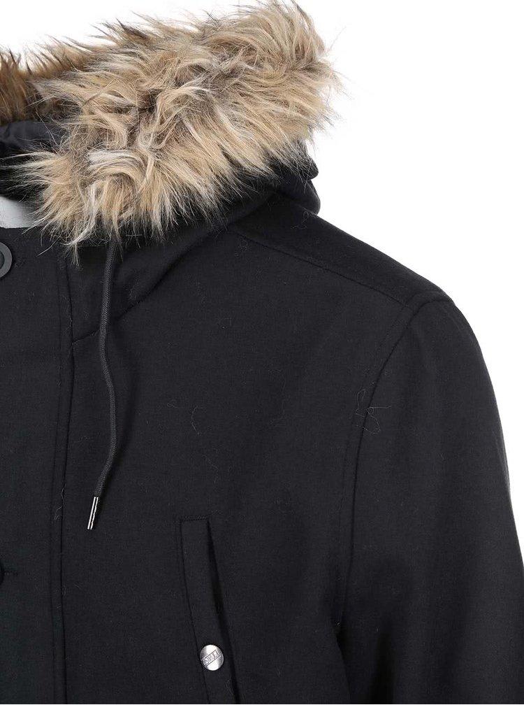 Černá parka s kapucí D-Struct Nuffield