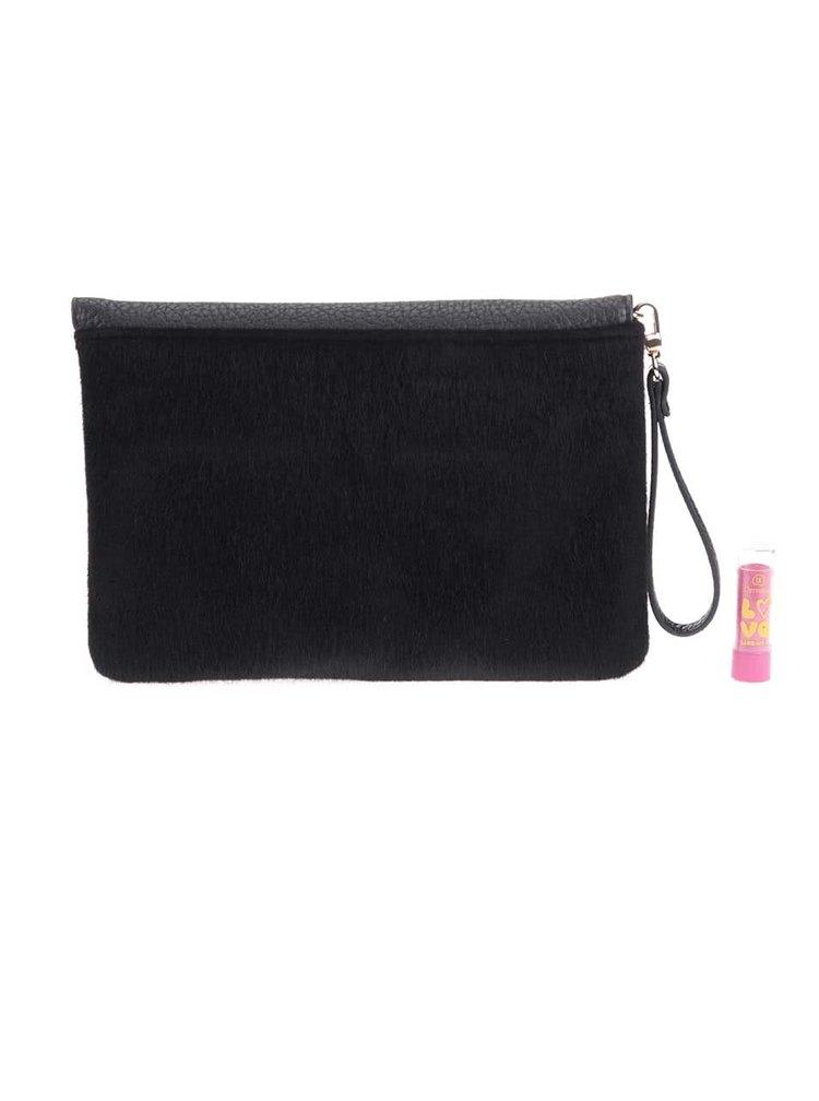 Čierna listová kabelka Pieces Rihanna  6159cbccd6e