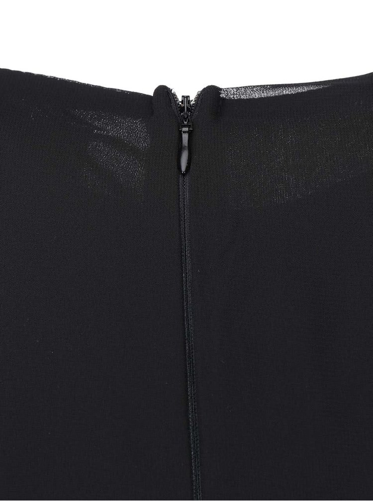 Čierne maxišaty s vyšívaným topom s výstrihom AX Paris