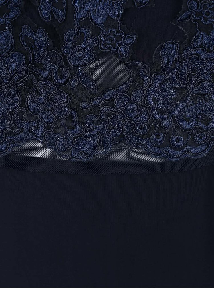 Tmavě modré maxišaty s krajkovým topem AX Paris